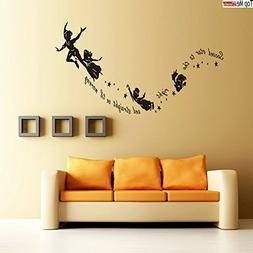 Peter Pan Second Star to the Right Wall Sticker Nursery Kids