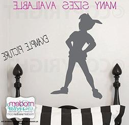 Peter Pan Shadow Silhouette Vinyl Wall Decal V1