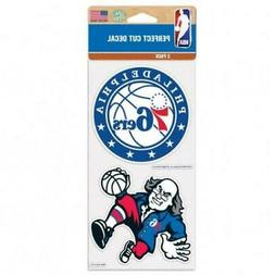 "Philadelphia 76ers 2 Pack 4""x4"" Car Decals  Decal Auto Emble"