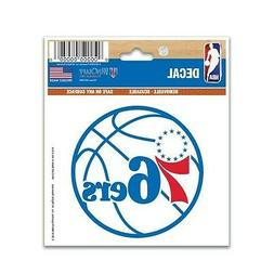 "PHILADELPHIA 76ERS 3""X4"" MULTI-USE DECAL PERFECT FOR CAR WIN"