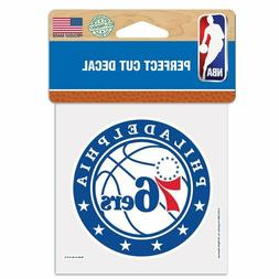 Philadelphia 76ers 4x4 Perfect Cut Decal Sticker Car Truck A