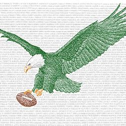 Philadelphia Eagles All Time Roster Word Art Print - Handwri
