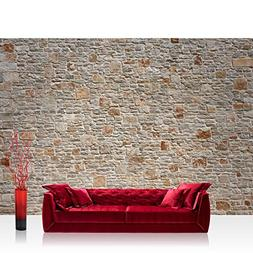 "Photo wallpaper - stone wall stones - 137.8""W by 96.5""H  - N"