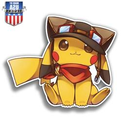 Pikachu airplane pilot pokemon Decal Phone laptop Car Window