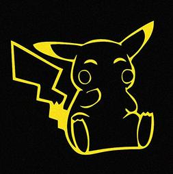 Pikachu Pokemon Yellow Car Decal Sticker