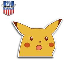 Pikachu Schocked Face Sticker Decal Phone Laptop Car Window