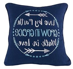 YugTex Pillowcases Live by faith Inspirational Embroidered T