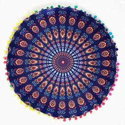 Foutou Pillows Cover Complicate Pattern Indian Mandala Floor