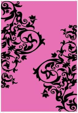 Pink and Black Area Rug 3x5 Great for Girls Room or Accent C