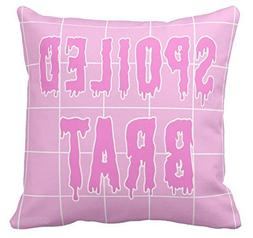 GENYOLO Pink Grid Aesthetic Pillow Spoiled Brat Dripping Pai