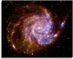 Pinwheel Galaxy Hubble Space Telescope 8x10 Silver Halide Ph