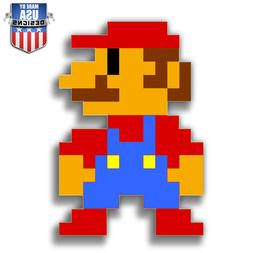 Pixel Mario 8-bit nes Decal Phone laptop Car Window art 2045