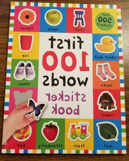 Play and Learn: First 100 Words Sticker Book by Roger Priddy