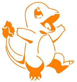 Pokemon Charmander Anime  Window Car Decal, Sticker, Pokemon