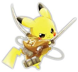 Pokemon Pikachu Anime Car Window Decal Sticker 046
