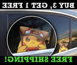 "Pokemon Pikachu Anime Car Window Decal Vinyl 5"" x 4"""