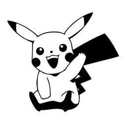 Pokemon Pikachu Anime  Window Car Decal, Sticker, Pokemon Go