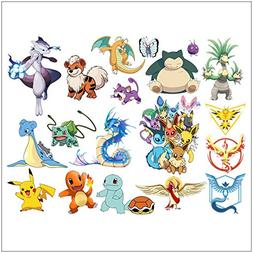 FUN FOR LIFE Pokemon Wall Stickers Peel and Stick, Pikachu/