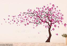 Popdecors - Cherry Blossom Tree  - Beautiful Tree Wall Decal