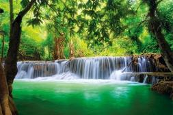 Poster Waterfall Feng Shui Wall Picture Decoration Nature Ju
