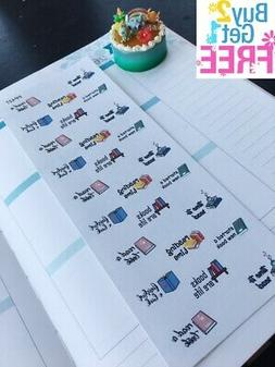PP427 -- Book Lovers Reading Time Life Planner Stickers for