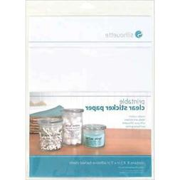 Silhouette Printable Sticker Paper - Clear -Set of 8 118650