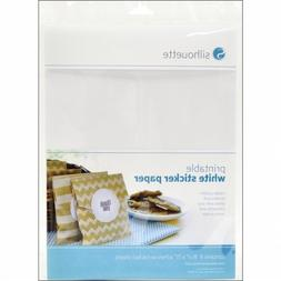Silhouette Printable Sticker Paper 8.5X11 8/Pkg-White