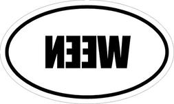 "6"" Printed Euro style oval WEEN decal sticker décor impact"