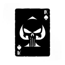 Punisher Ace Of Spades Old Playing Card Vinyl Decals - Car s