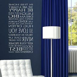 QUOTE WALL STICKERS! In Our Home Removable Art Decal, Interi