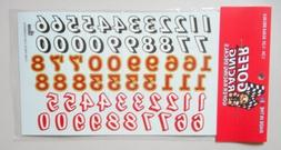 RACE CAR NUMBERS 1:24 1:25 GOFER RACING DECALS CAR MODEL ACC
