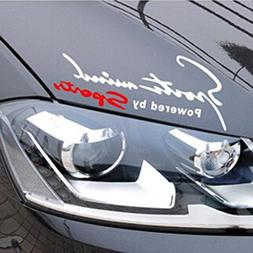 Racing Sports Auto Car Light Eyebrow Reflective Stickers Dec