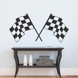 Racing Flag Decal Finish Line Flags Wallpaper Race Car Remov