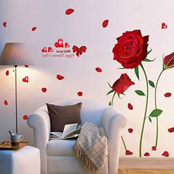 ouledixun Red flowers red roses sitting room adornment bedro