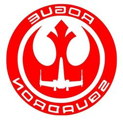 Red Rogue Squadron Decal Vinyl Sticker Graphics|UR Impressio