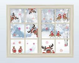 Reindeer Wall Decal with Birds Snowflake Wall Decal ,Chris