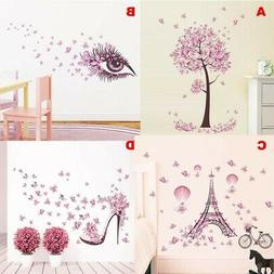 Removable Butterfly Tree Wall Stickers for Kids Rooms Home D