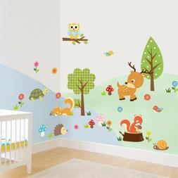 Removable Cute Zoo Animals Wall Sticker Decal For Kids Nurse