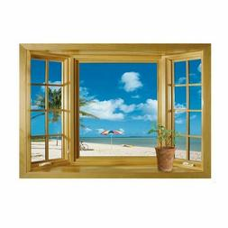 Removable Mural-Fake Window Scenery Art Wall Decal Stickers