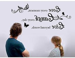 Lchen Removable Vinyl Decal Live Every Moment, Laugh Every D