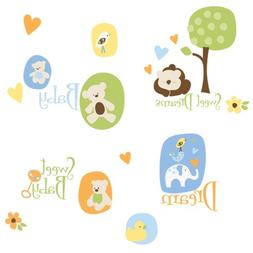 ROOMMATES RMK1777SCS Modern Baby Peel and Stick Wall Decals