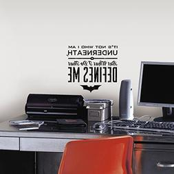 RoomMates RMK2696TB Batman Quote Peel and Stick Wall Decals,