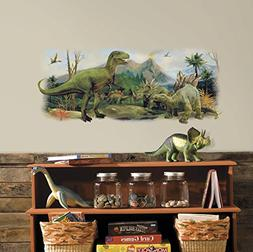 RoomMates RMK3053TB Dinosaurs Giant Scene Peel and Stick Wal