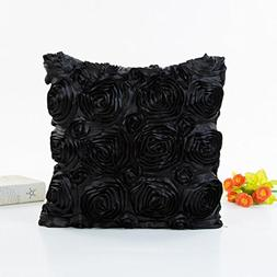 Romantic Large 3D Rose Flower Decor Cushion Cover,Highpot Sq