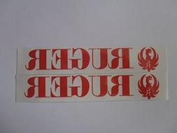 """Ruger red on white Vinyl Decal weather proof Sticker 5"""" x 1"""""""