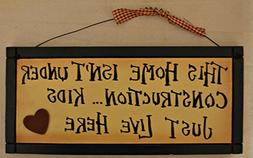 Rustic Country Wood Plaque Sign Decoration with a Metal Wire