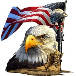salute our flag american bald eagle decal