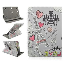 "Samsung Galaxy Tab 3 7.0 7"" inch Tablet Eiffel Tower Hearts"