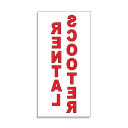Scooter Rental Red Auto Car Repair Shop DECAL STICKER Retail