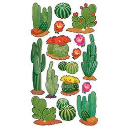 Craft Stickers Sticko Desert Cactus Flowers Blooms Sand Diff